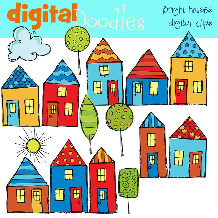 Clipart neighborhood single row black and white graphic transparent library Images Of Houses Clipart | Free download best Images Of Houses ... graphic transparent library