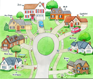 Neighborhood images clipart png freeuse library Clipart Of Neighborhoods | Free Images at Clker.com - vector clip ... png freeuse library