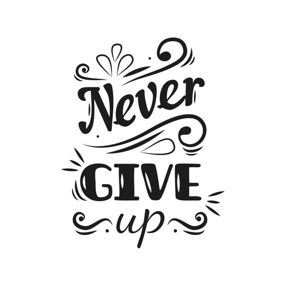 Clipart never give up