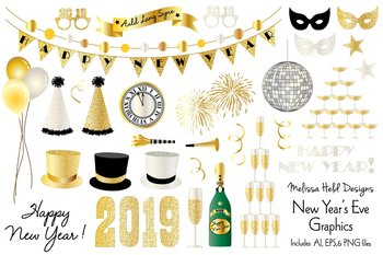 Clipart new years 2019 graphic library New Years Eve 2019 Clipart graphic library