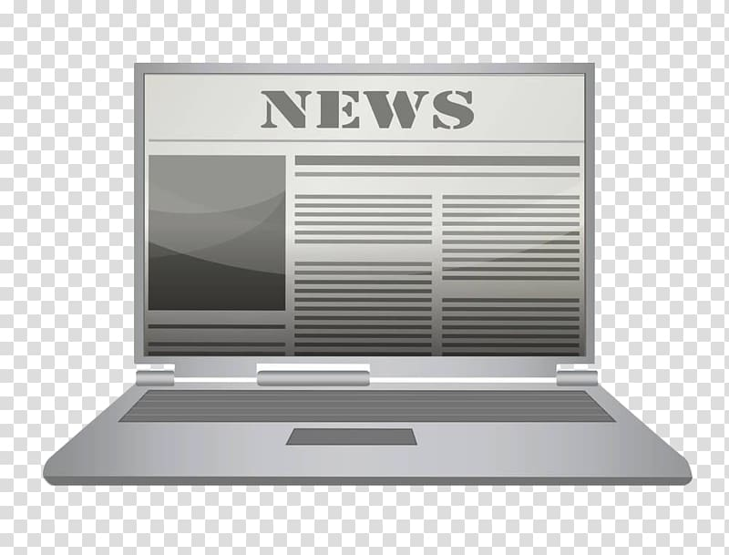 Clipart news online today image free Online newspaper , Hand-painted computer newspaper news transparent ... image free