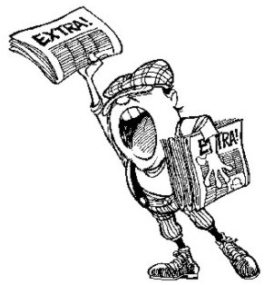 Clipart newspaper headline extra extra vector black and white download News Headlines from Around the World August 21st 2011 | Breise ... vector black and white download