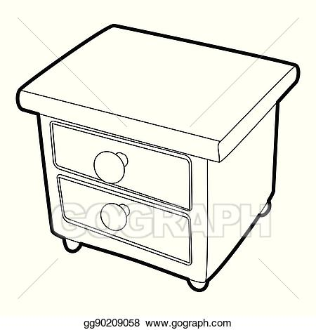 Clipart night stand png royalty free Vector Clipart - Nightstand icon, isometric 3d style. Vector ... png royalty free