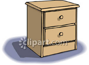 Clipart night stand vector library stock Two Drawer Nightstand - Royalty Free Clipart Picture vector library stock