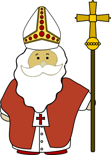 Clipart nikolaus png free download St Nicholas with his cross vector image | Public domain vectors png free download