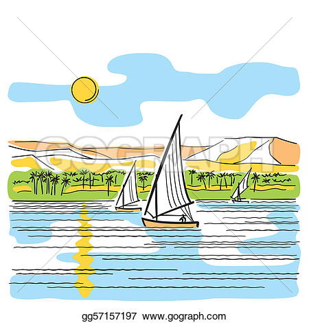 Clipart nile river clip royalty free download Vector Stock - River nile in egypt. Stock Clip Art gg57157197 ... clip royalty free download