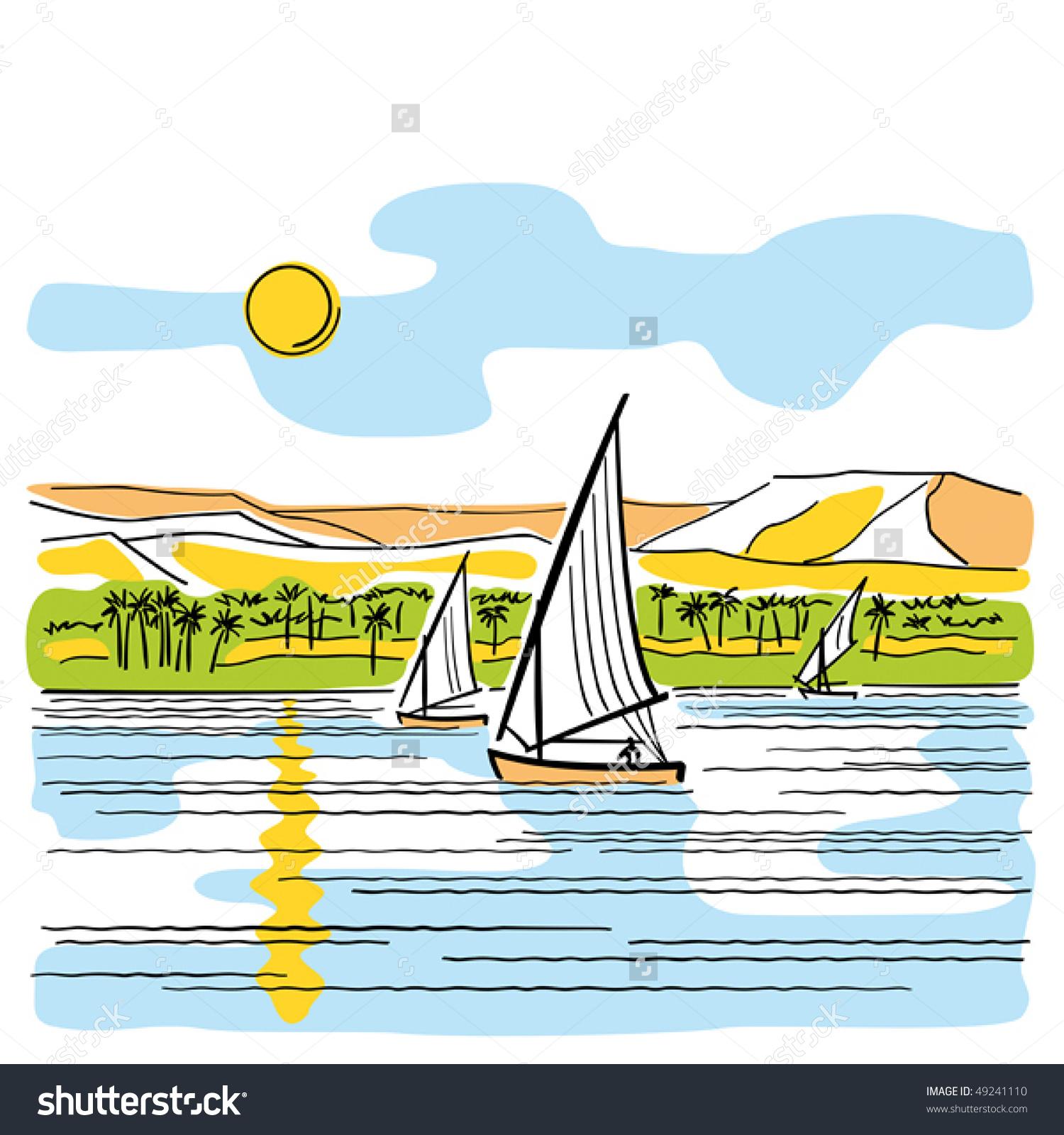 Clipart nile river image stock River Nile Egypt Vector Stock Vector 49241110 - Shutterstock image stock