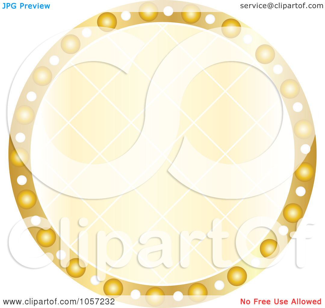 Clipart no circ le picture royalty free download Royalty-Free Vector Clip Art Illustration of a Sparkly Golden ... picture royalty free download