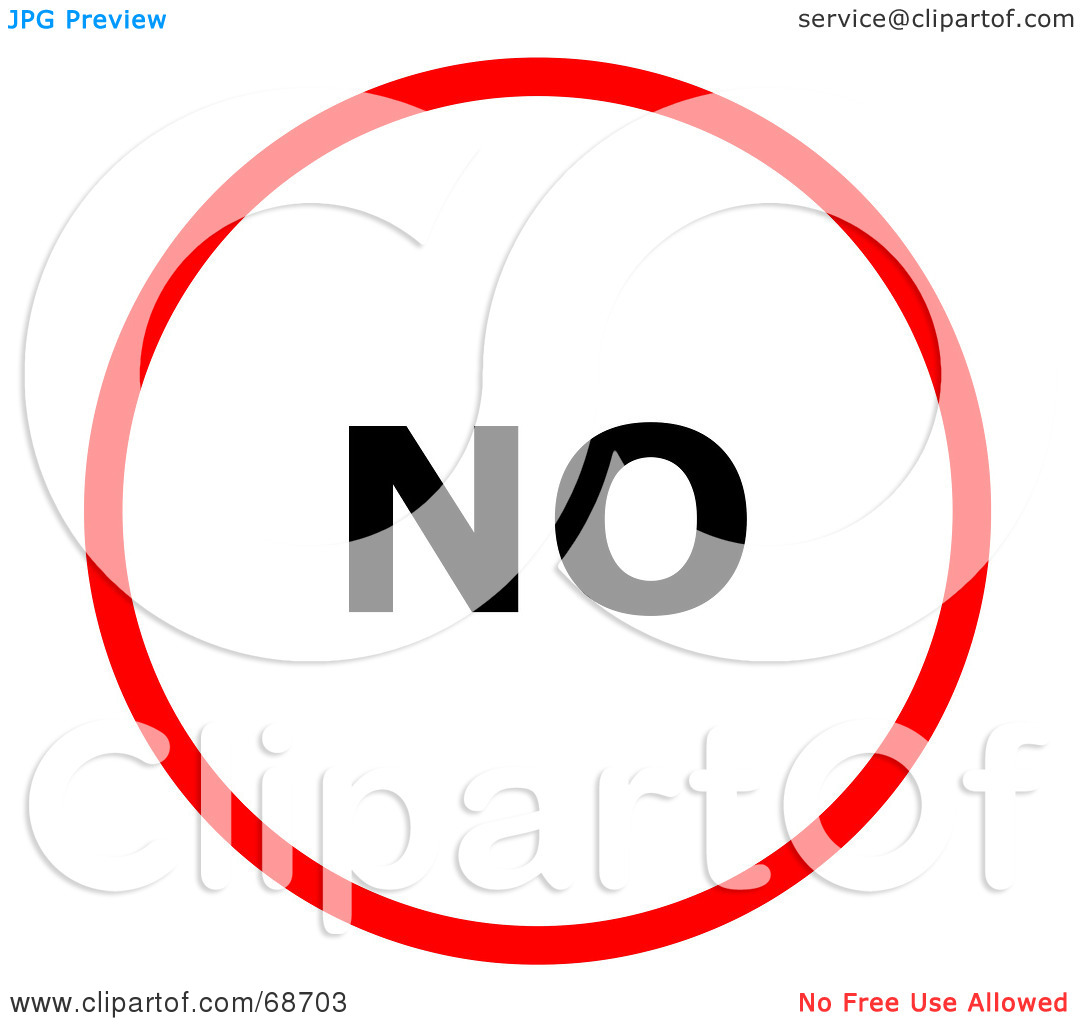 Clipart no circ le image free download Royalty-Free (RF) Clipart Illustration of a Red No Circle by oboy ... image free download