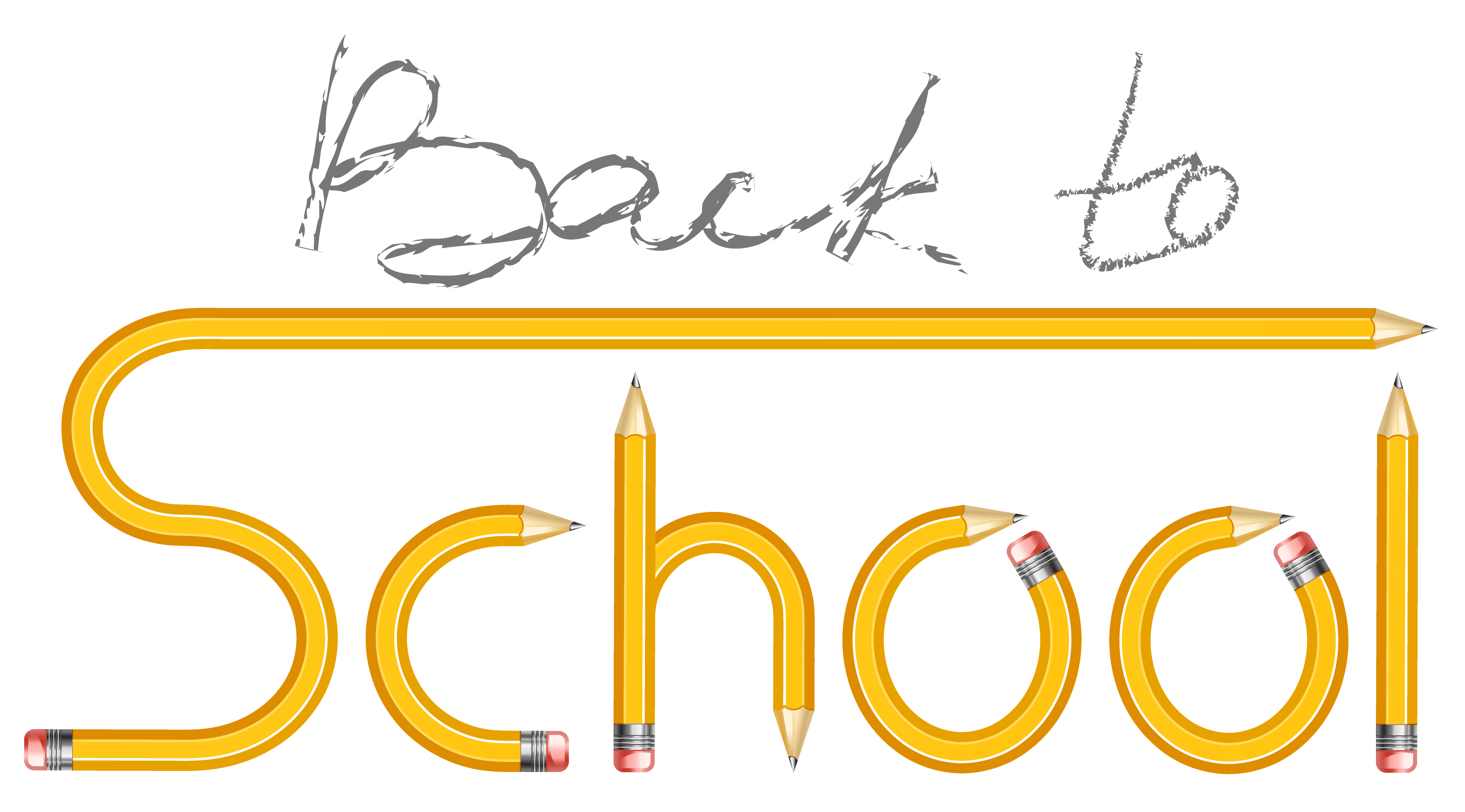 Winter break no school clipart clipart black and white library Transparent Back to School with Pencils PNG Clipart Image | Gallery ... clipart black and white library