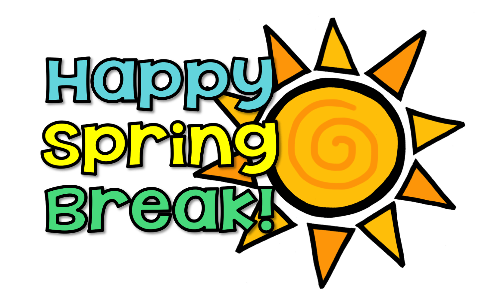 School events clipart clip royalty free library Spring Break! No School! clip royalty free library