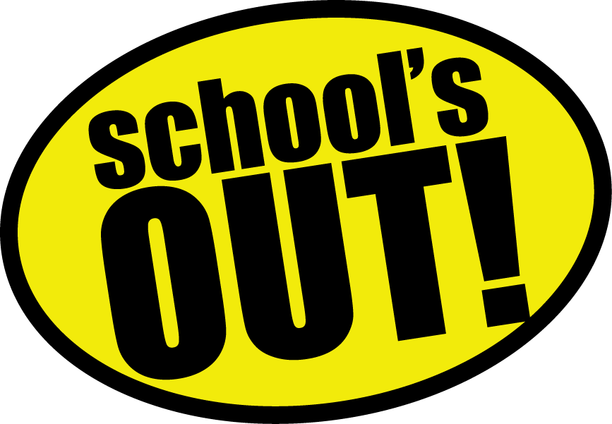 Half day of school clipart banner black and white library Free Schools Out Clipart Pictures - Clipartix banner black and white library
