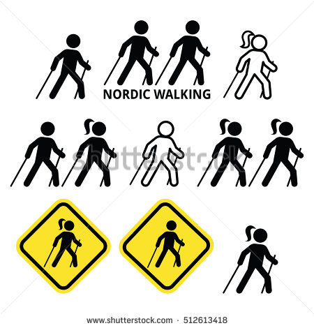 Clipart nordic walking kostenlos graphic freeuse Nordic Walking Stock Photos, Royalty-Free Images & Vectors ... graphic freeuse