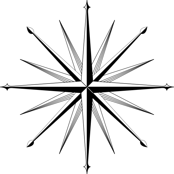 Clipart north star png stock Compass Outline | Wind Rose Compass Rose clip art | compass ... png stock