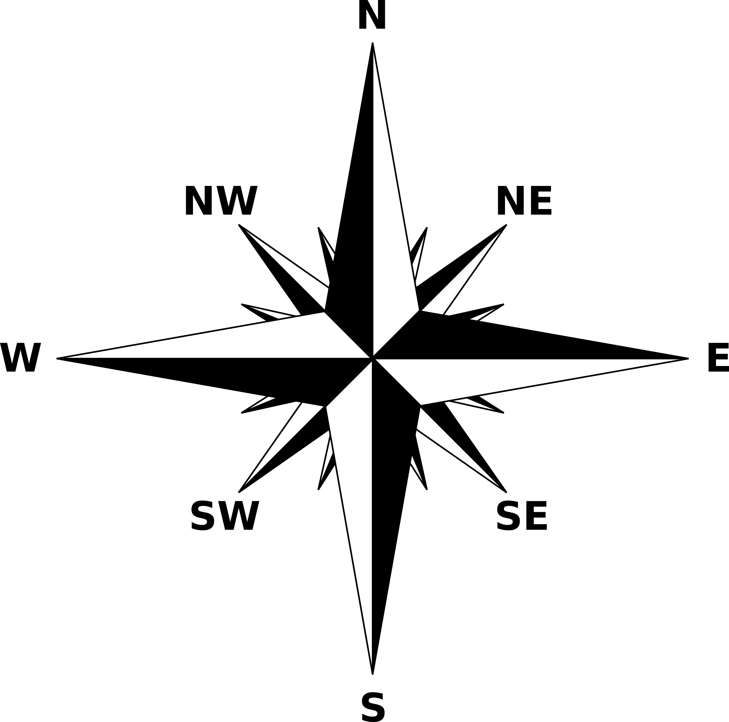 North star clipart black and white black and white download Black And White Compass Png Clipart - 1354 - TransparentPNG black and white download