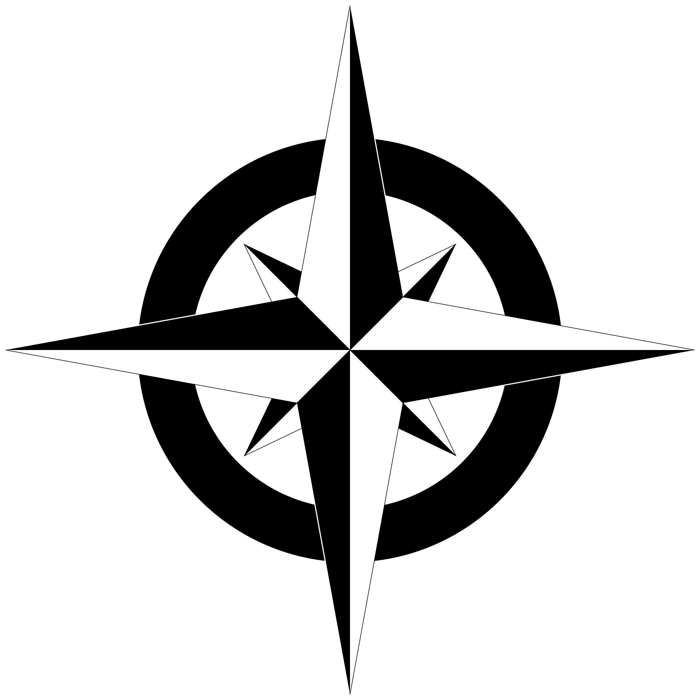 North star clipart black and white picture library download Compass Rose PNG Black And White Transparent Compass Rose Black And ... picture library download
