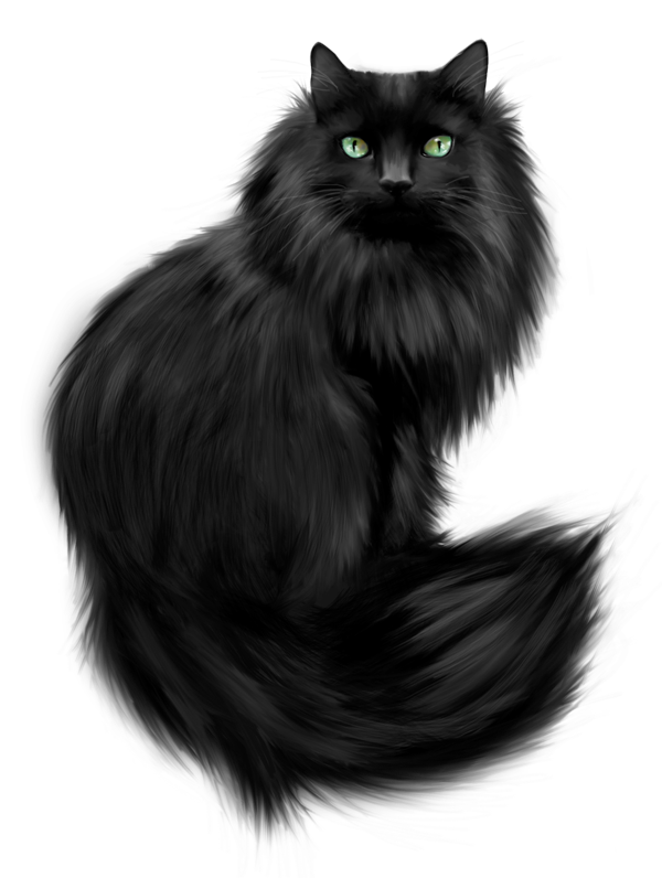 Clipart norwegian forest cat clip art royalty free library Painted Black Cat Clipart | Gallery Yopriceville - High-Quality ... clip art royalty free library