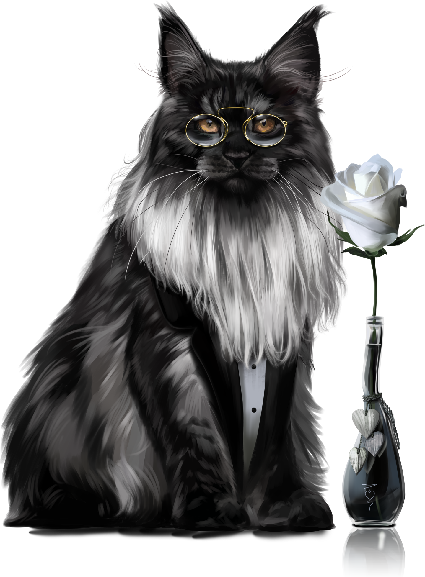 Clipart norwegian forest cat jpg black and white library Pin by Lidia on Kot Clipart / Cat Clipart | Pinterest | Cat clipart jpg black and white library