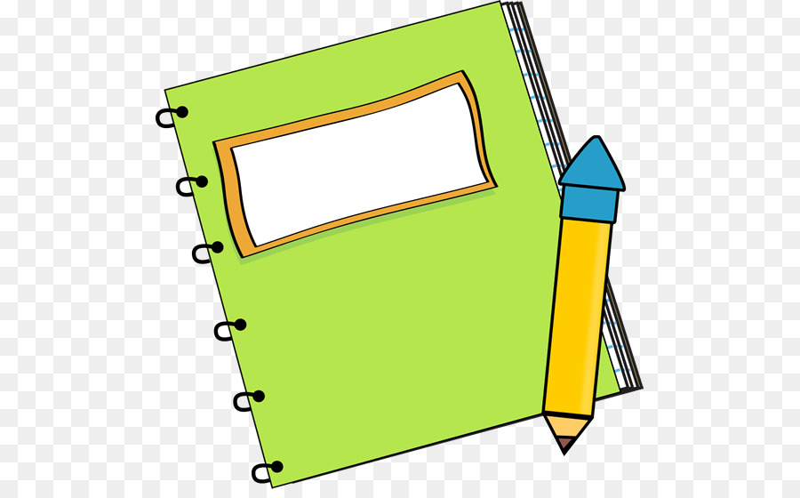 Clipart notebook and pencil