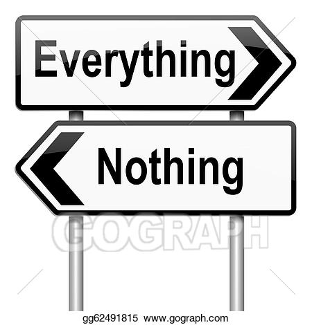 Clipart nothing jpg royalty free stock Stock Illustration - Everything or nothing concept. Clipart ... jpg royalty free stock