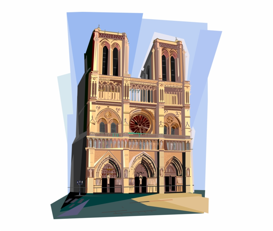 Clipart notre dame svg library library Cathedral Paris France - Notre Dame De Paris Clipart Free PNG Images ... svg library library