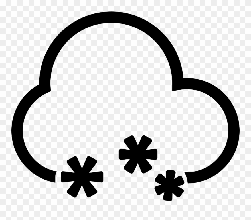 Clipart nube clip art freeuse download Snow Cloud Comments - Nube Nieve Icono Clipart (#422299) - PinClipart clip art freeuse download