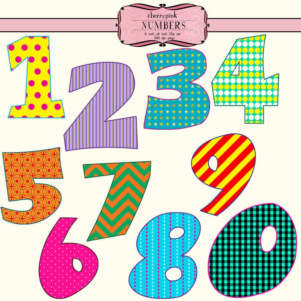 Clipart number 1 10 banner free download Cute numbers clipart 1-10 - ClipartFest banner free download