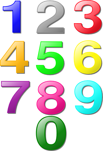 Clip art numbers kid. Clipart number 1 10