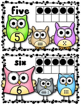 Clipart number 1 owl