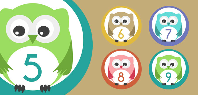 Clipart number 1 owl graphic library stock Owl Numbers graphic library stock