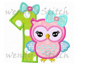 Clipart number 1 owl clipart freeuse library Number 1 with owl | Etsy clipart freeuse library
