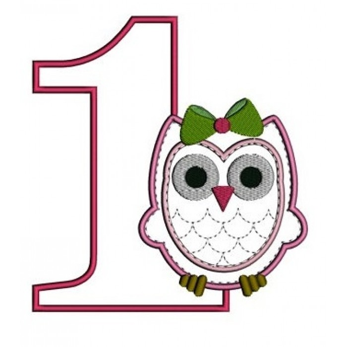 Clipart number 1 owl clip royalty free download Birthday-Baby-Owl-Number-1-(One )-Applique-Machine-Embroidery-Digitized-Design-Pattern---Instant-Download--three-sizes-4x4-,-5x7,-6x10-hoops-700x700.jpg clip royalty free download