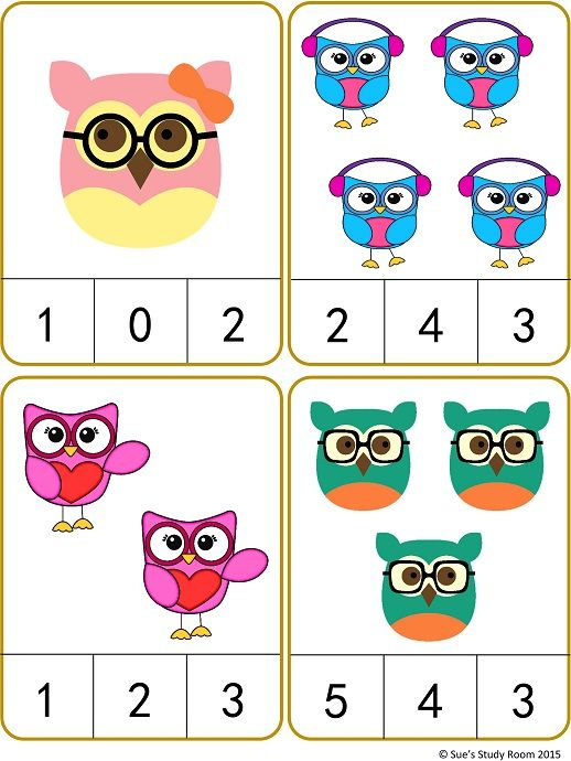 Clipart number 1 owl clipart freeuse library Owls Count and Clip Cards: Numbers 1-20 | Count, Cards and Numbers clipart freeuse library