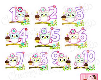 Clipart number 1 owl svg Owl cupcake | Etsy svg
