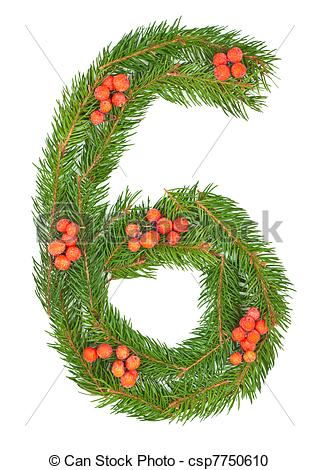 Clipart number 6 christmas free Clipart number 6 christmas - ClipartFox free