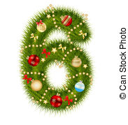 Clipart number 6 christmas image free stock Christmas number Clipart Vector and Illustration. 14,445 Christmas ... image free stock