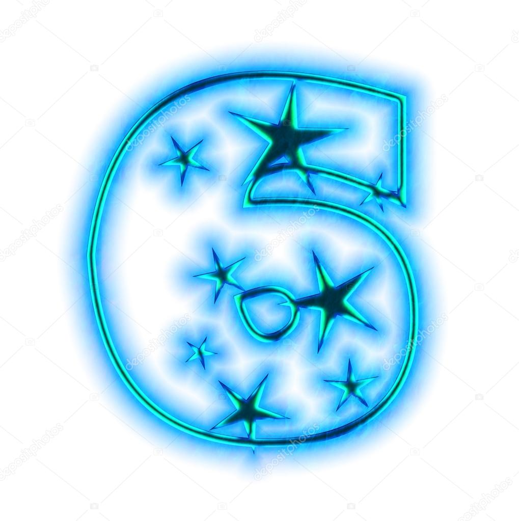 Clipart number 6 christmas graphic royalty free download Christmas star font - number 6 — Stock Photo © silverkblack #1427506 graphic royalty free download