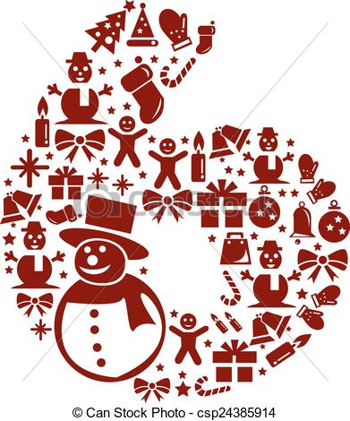 Clipart number 6 christmas image library download Clipart number 6 christmas - ClipartFest image library download