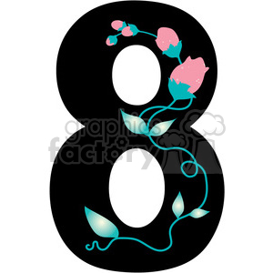 Clipart number 8 png library library Number 8 Girly clipart. Royalty-free clipart # 388593 png library library