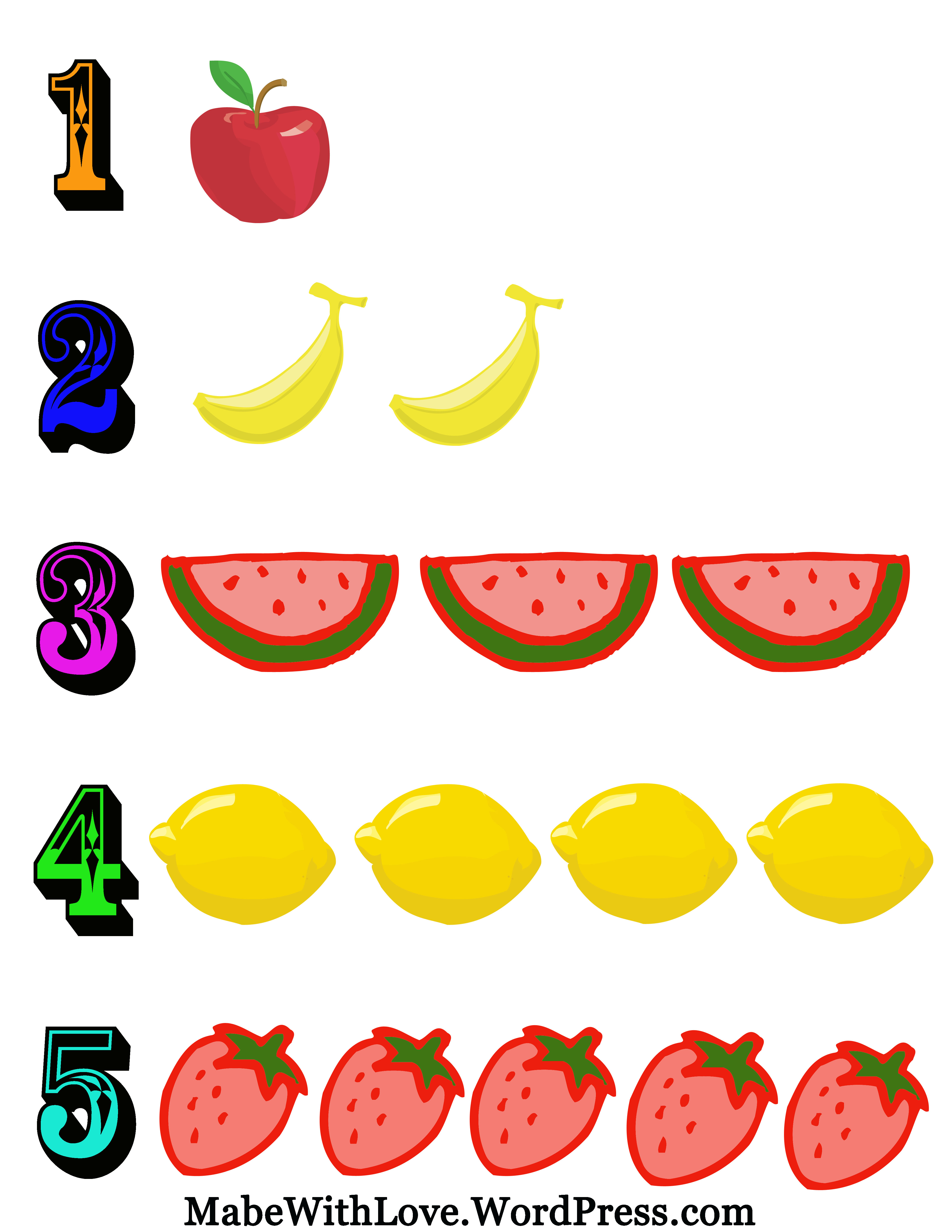 Clipart numbers 1 5 freeuse library Printable Numbers Sheet | Mabe, With Love freeuse library