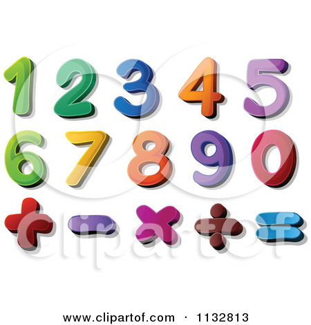 Clipart numbers 1 5. Royalty free rf number