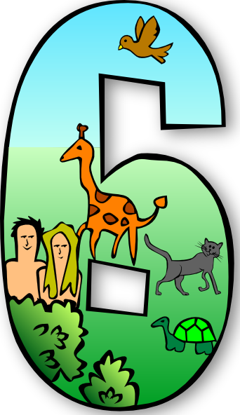 Creation days clip art. Clipart numbers 1 5