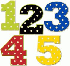 Clipartfest polka dot . Clipart numbers 1 5