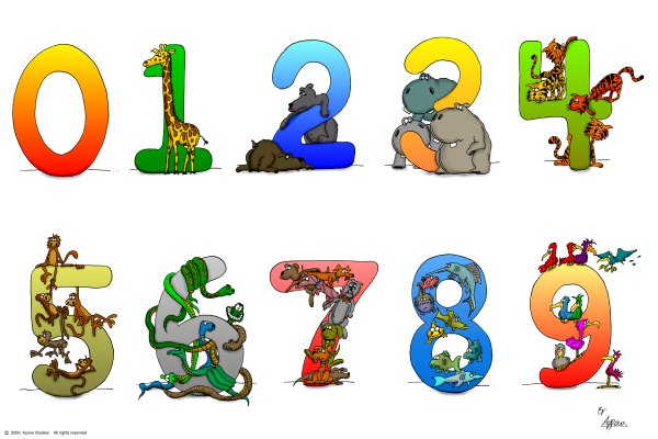 kid. Clipart numbers 1 5