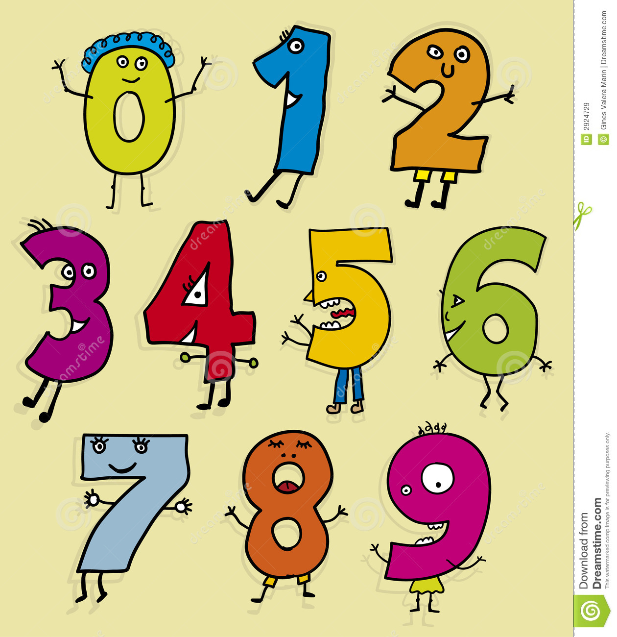 Clipart numbers clip art freeuse library Cute Number Clipart - Clipart Kid clip art freeuse library