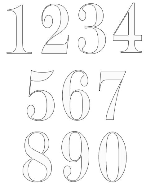 Clipart numbers png black and white Clip Art Numbers 1-20 Clipart - Clipart Kid png black and white