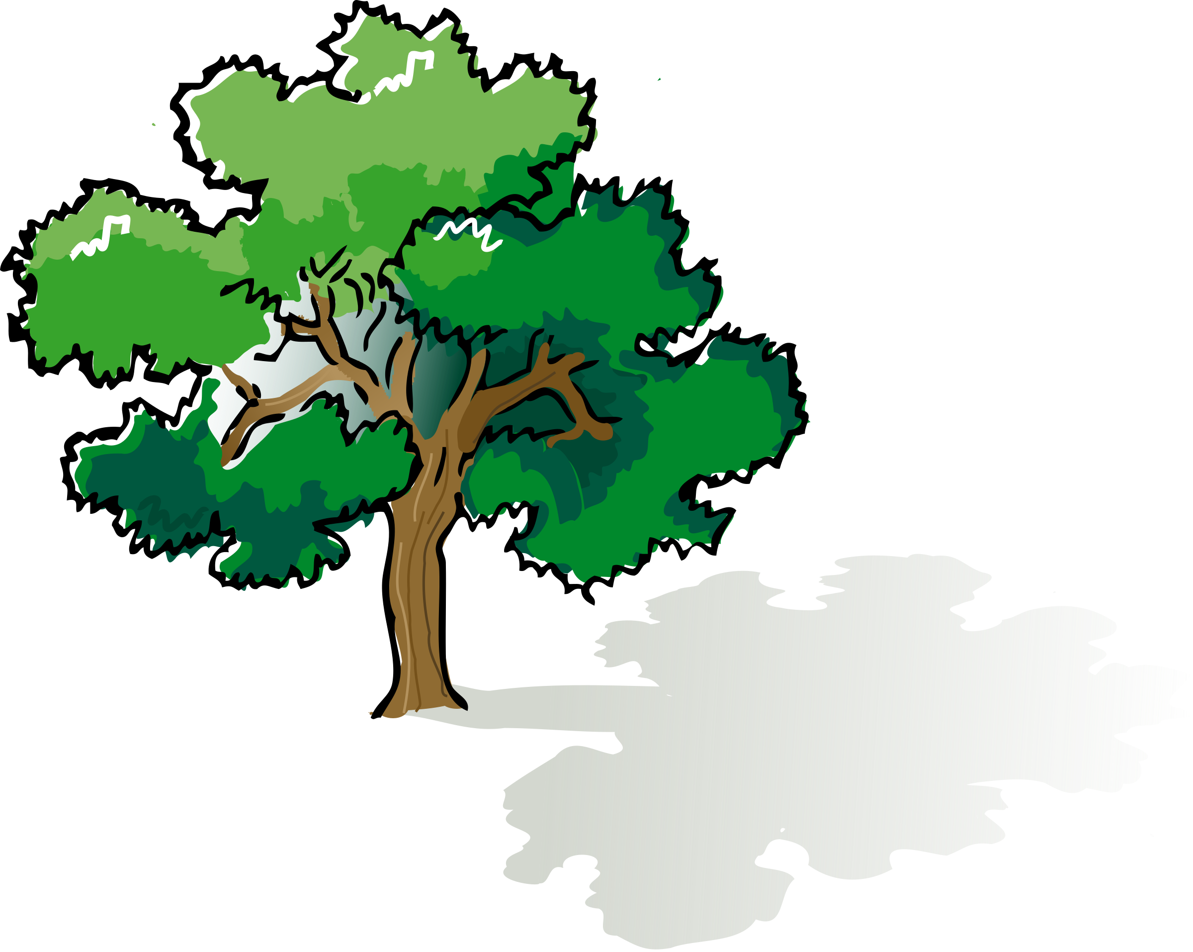 Oak tree clipart image free library Clipart - colored oak tree image free library