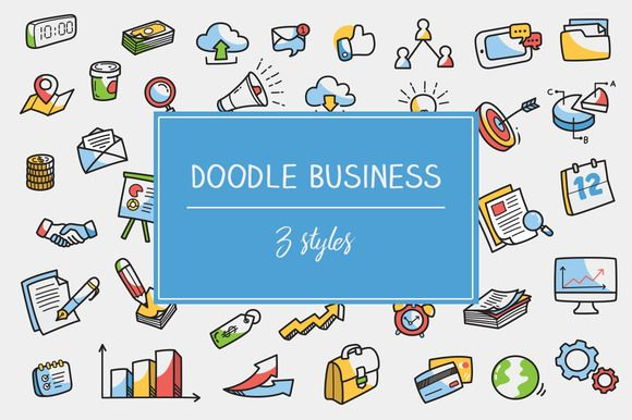 Clipart objects for photoshop clip royalty free Doodle Business Icon and Clipart by veee4victory on @creativemarket ... clip royalty free