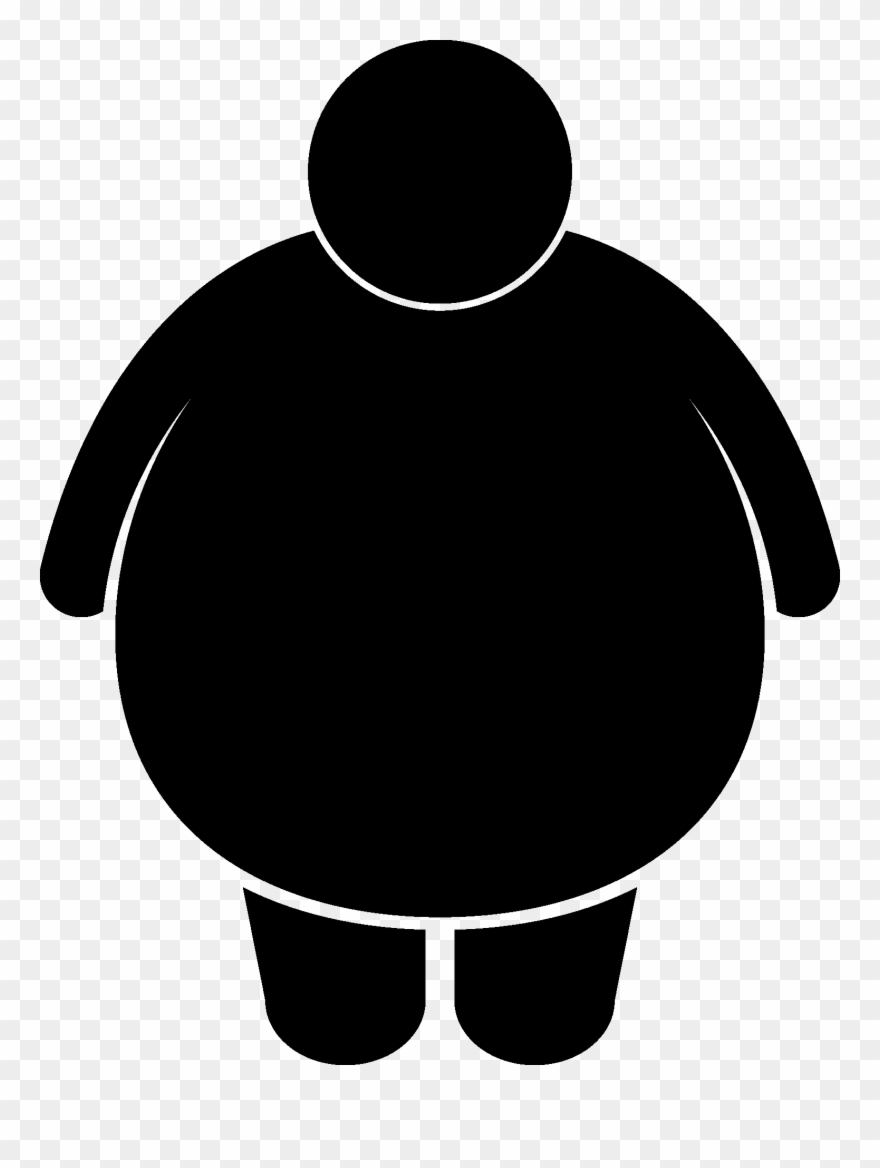 Clipart obseity clip art library Thoughts Drawing Obesity - Black And White Obesity Clipart - Png ... clip art library