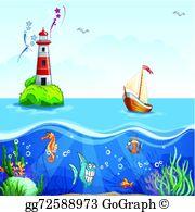 Ocean floor clipart banner Ocean Floor Clip Art - Royalty Free - GoGraph banner